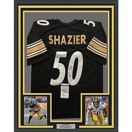 bc47e344718 Ryan Shazier Signed Jersey - FRAMED 33x42 Black COA - JSA Certified -  Autographed NFL Jerseys