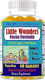 Kids Gummies for Focus Kids Focus and Attention Chewable Gummies Brain