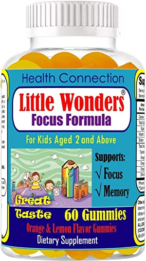 Kids Gummies for Focus Kids Focus and Attention Chewable Gummies Brain Focus and Attention Supplement for Kids Help Kids Focus Study and Task Vitamins Kids Vitamins Focus Kids Natural Focus