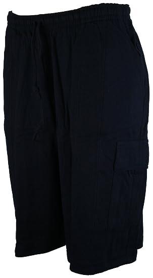 6ce5eb3322b04 Perfect Collection Jersey de Coton Cargo Shorts Bleu Marine: Amazon ...