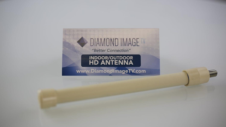 HDTV Antena – Alto rendimiento cartucho Multidireccional – uso interior o exterior – Compacto y fácil de instalar – Diamond imagen TV