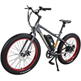 "Onway 26"" 500W Powers Plus Electric Mountain Bike Pedal assist Electric Bicycle with Removable Lithium-Ion Battery for All Terrain Riding"