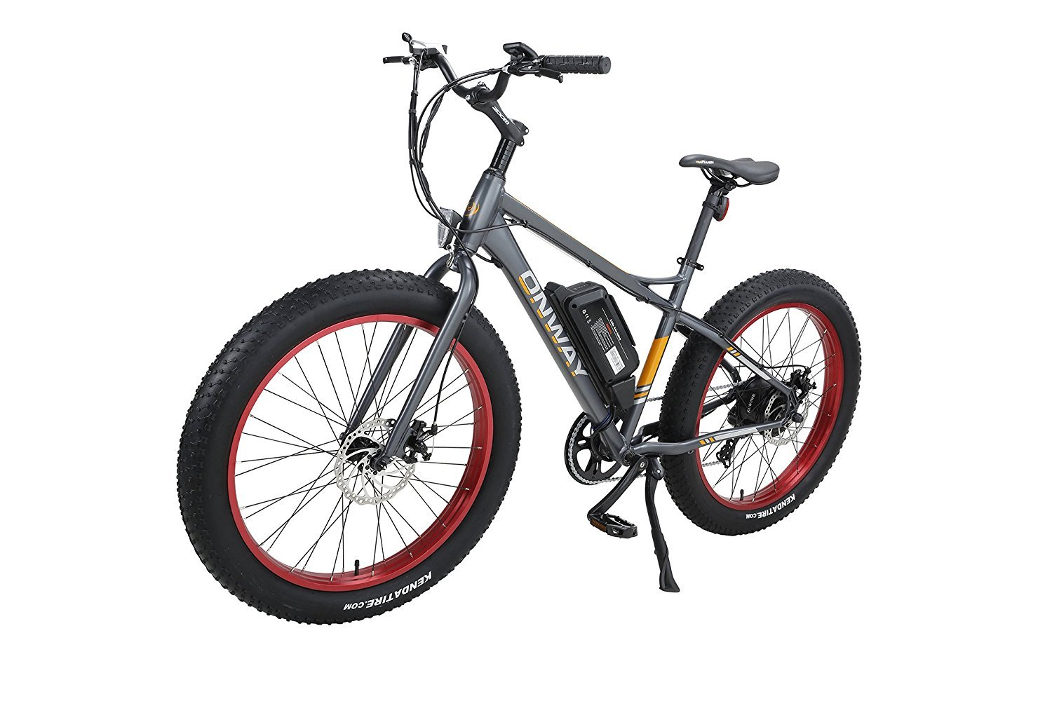 Onway 26'' 500W Powers Plus Electric Mountain Bike Pedal assist Electric Bicycle with Removable Lithium-Ion Battery for All Terrain Riding