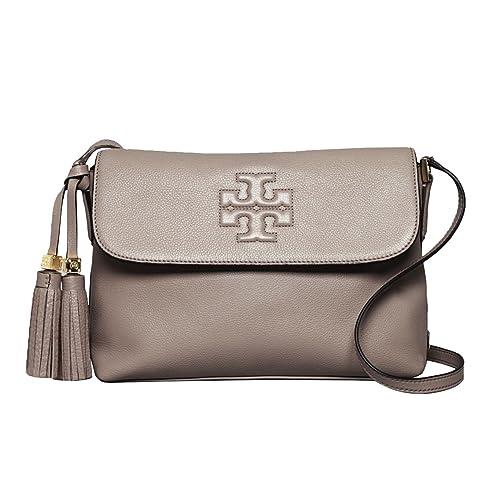292693dbc28 Tory Burch Thea Messenger Crossbody Bag in Dust Storm  Amazon.ca  Shoes    Handbags