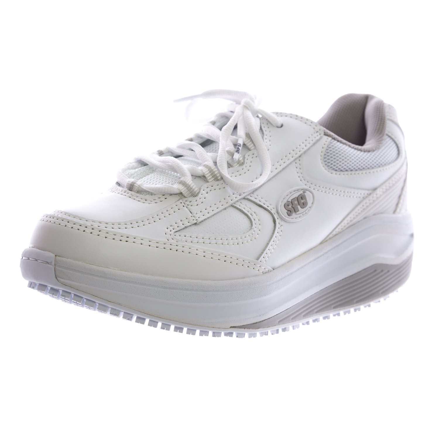 Shoes For Crews Women's Energy Leather Shoes 9142 Size 9.5 White