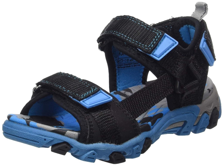 Schwarz//Orange 01 Superfit Boys/' Henry Ankle Strap Sandals, 5 UK