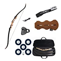 Samick Sage Take Down Recurve Bow Combo Package Kit with Case, Armguard, Stringer, Arrow Rest and Paper Target
