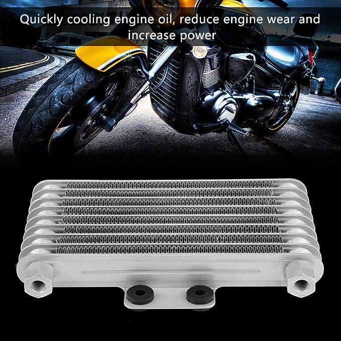 Suuonee Refroidisseur dhuile de moteur de moto 125 ml Kit de radiateur de refroidissement pour moteur EN GN GSX Engine 200