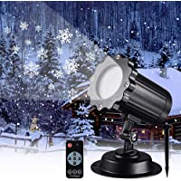 Snowfall LED Light Projector,Somotoos Christmas Snow Light,Snowfall Projection Light with Snowstorm Effect for Christmas,Holiday,Halloween,Party,Garden,Wedding,Indoor Outdoor Decorations