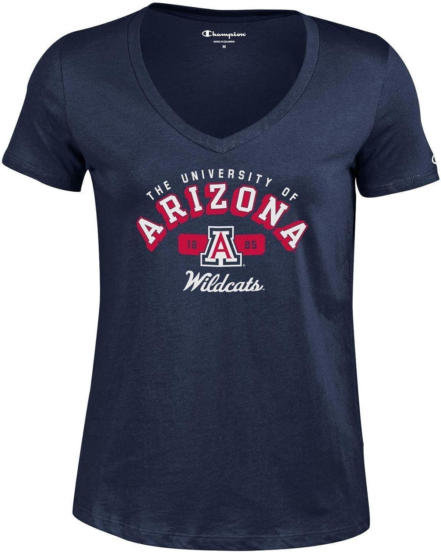NCAA womens NCAA Womens University Short Sleeve Tag less V Neck Tee