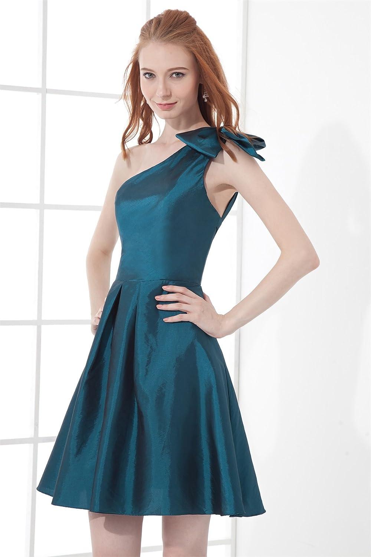 Bridal_Mall Women's One Shoulder Short Homecoming Dress