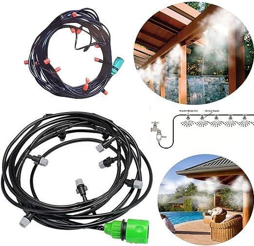 FLM Kit nebulizador 10 Metros de Agua nebulización cenador sombrilla jardín: Amazon.es: Jardín