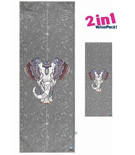 IUGA Impreso de toalla de la Yoga nos Set de toallas de yoga Elefante