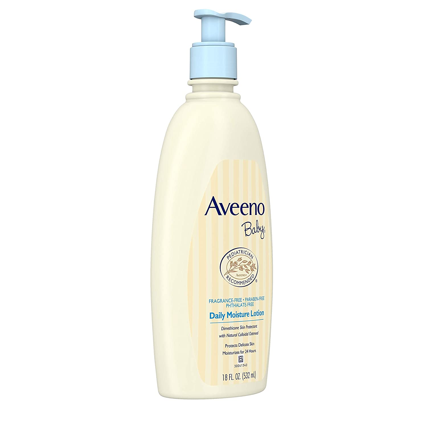 AVEENO Baby Daily Moisture Lotion Fragrance Free 18 oz (9 Pack)