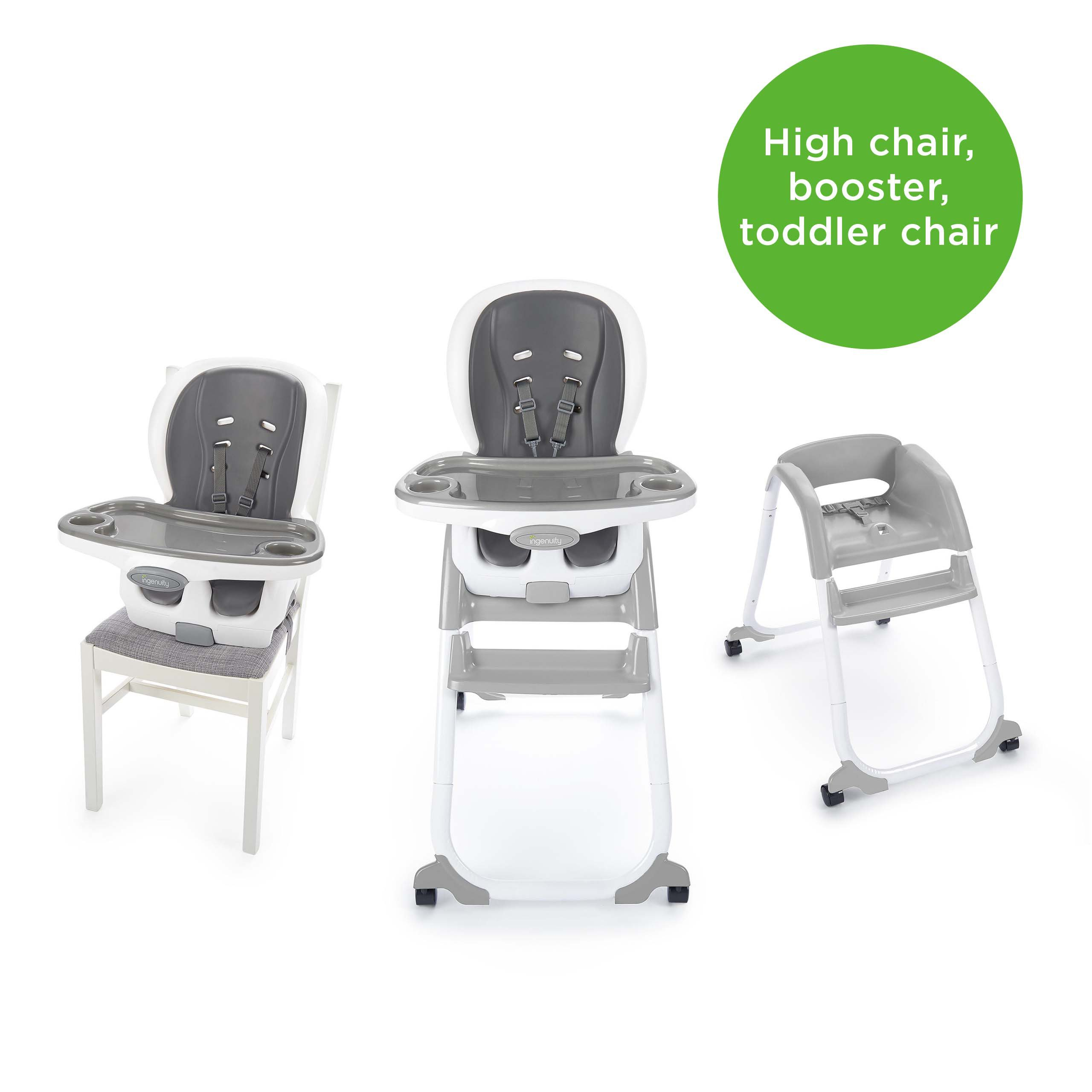 Ingenuity SmartClean Trio Elite 3-in-1 High Chair - Slate - High Chair, Toddler Chair, and Booster by Ingenuity (Image #2)