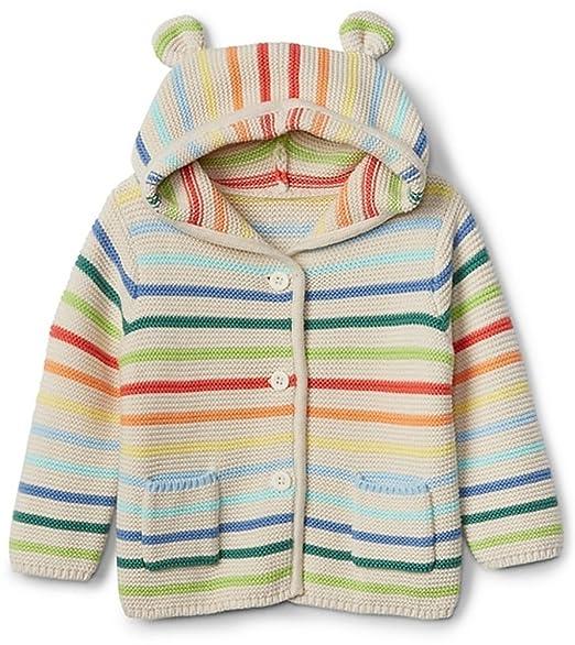 7a0a41ad0 Amazon.com  BabyGap Girls Crazy Stripe Bear Hoodie Cardigan Sweater ...