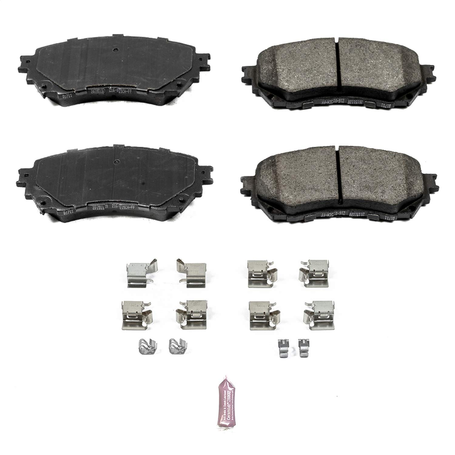 Power Stop 17-1711 Z17 Evolution Plus Clean Ride Ceramic Brake Pad with Premium Hardware Kit Included