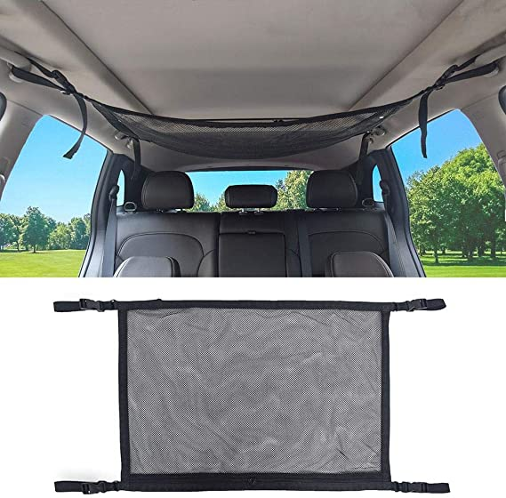 Malla el/ástica con ajuste universal para camionetas todoterreno pickups o minifurgonetas Red de carga para maletero o techo de coche MICTUNING