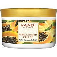 Vaadi Herbals Papaya Fairness Scrub Gel, Honey and Saffron, 500g
