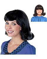 Black 60's Flip Wig Ideal for a Lucy Van Pelt Costume Wig from Peanuts