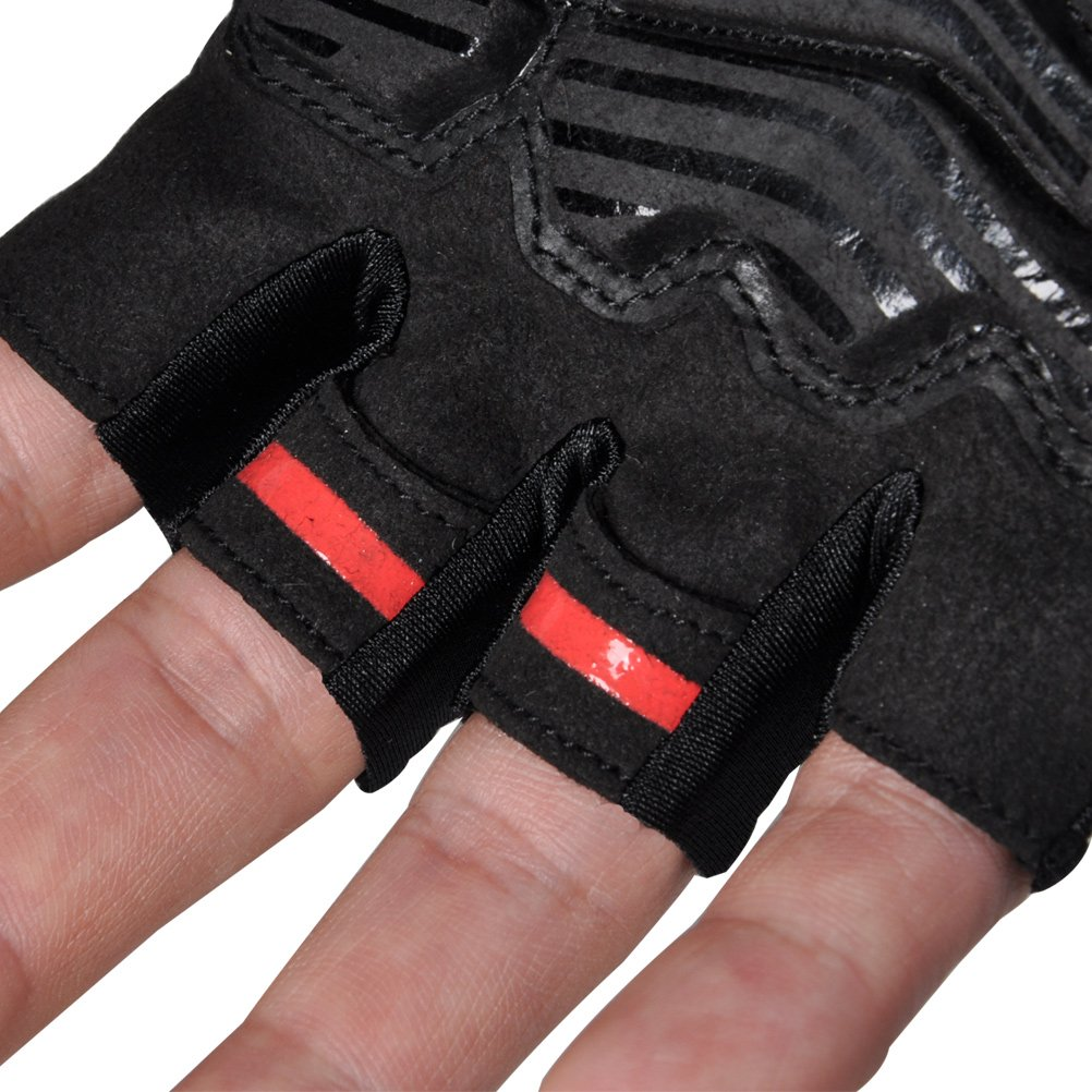 Half Finger Mountain Road Bike Bicycle Gloves FIRELION Breathable Cycling Gloves - Gel Pad Anti-Slip Shock-Absorbing MTB DH