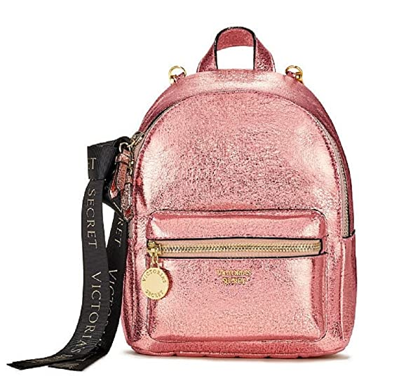 3e02febcefc Victoria s Secret Pink Metallic Crackle Mini City Backpack  Amazon.co.uk   Clothing
