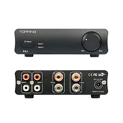 Topping Pa3 Desktop Hi Fi Digital Amplifier (Black) by Topping