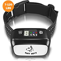 RUFF BOYZ Dog Bark Collar-Humane and Effective Anti Bark for Large Dogs Small Dogs and Medium Dogs- Rechargeable Bark Collar with Sound Warning and Vibration Bark Control Collar
