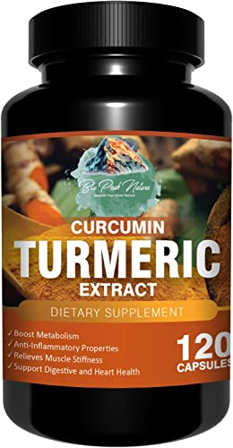 Turmeric Curcumin Supplement Best Turmeric Capsules with BioPerine Extract 600mg 120 Purely Vegan Antioxidant Capsules, Get The Turmeric Benefits For Joint Heart Support, Weight Management More