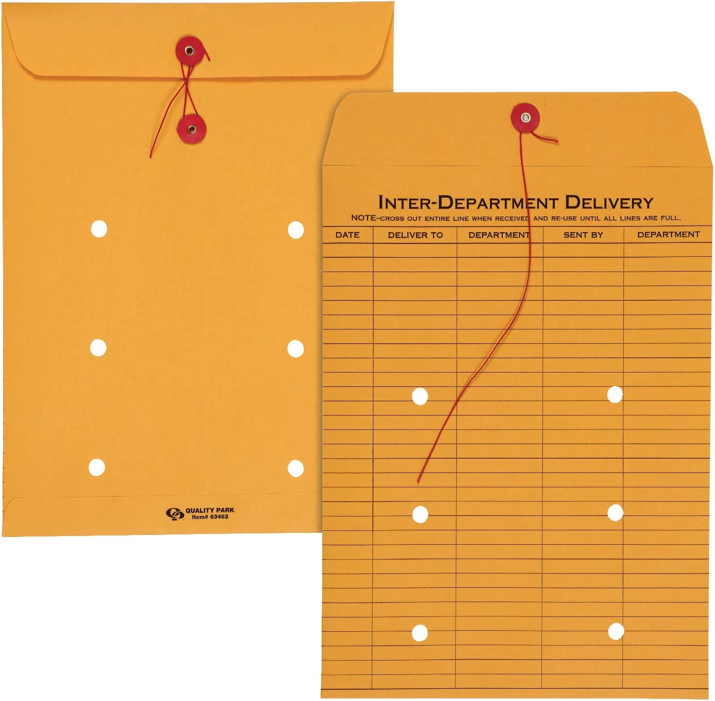 Quality String-Tie Jumbo Size Inter-Department Envelopes 25 Per 12 X 16 Inches
