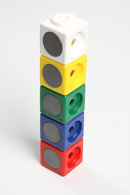 Kantenl/änge 3.4 cm wei/ß Dick-System 340010 10 Riesen Steckw/ürfel