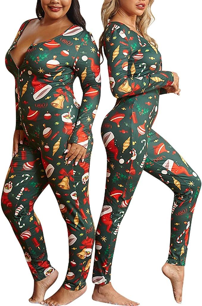 VEKDOEN - Pijamas feos de Navidad para mujer, de una sola ...