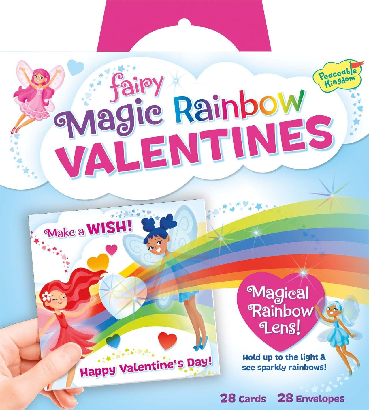 Amazoncom Peaceable Kingdom Fairy Magic Rainbow Lens 28 Card