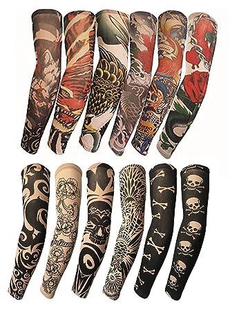 Amazon Com Kosbon 12pcs Arts Fake Temporary Tattoo Arm Sunscreen