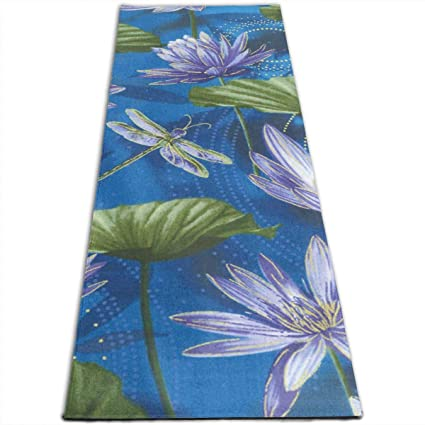 Amazon.com: Bghnifs Water Lily and Dragonfly Printed Design ...