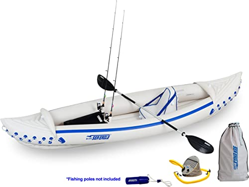 Sea Eagle SE370 Inflatable Sport Kayak Fishing Package
