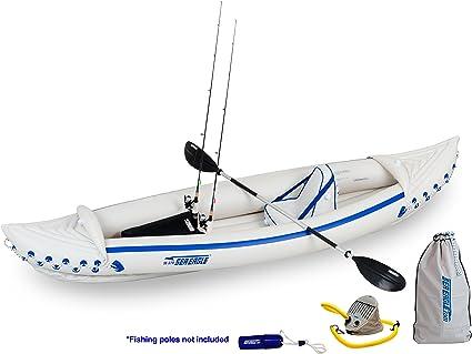 Amazon.com: Deporte inflable Kayak Paquete de pesca, diseño ...