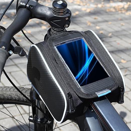 95 opinioni per Roswheel bicicletta della bici frontale superiore del tubo Telaio Pannier doppio