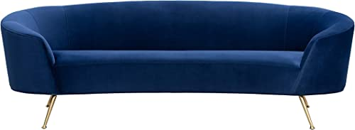 Sorrento Collection Navy Velvet Gold Leg Sofa