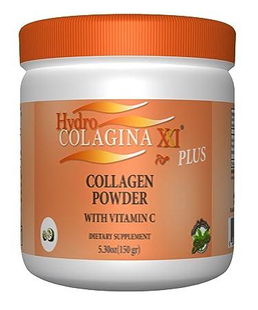 New HYDROCOLAGINA XXI Plus Collagen Powder COLAGENO EN POLVO Hidro Colagina Colageina Hidrolized Collagen Vitamin C