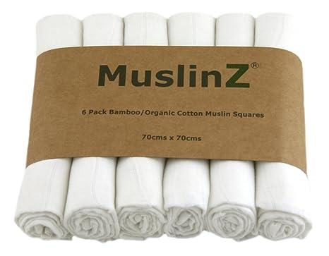 Muslinz Cuadrados de muselina de lujo de de bambú/algodón orgánico ...