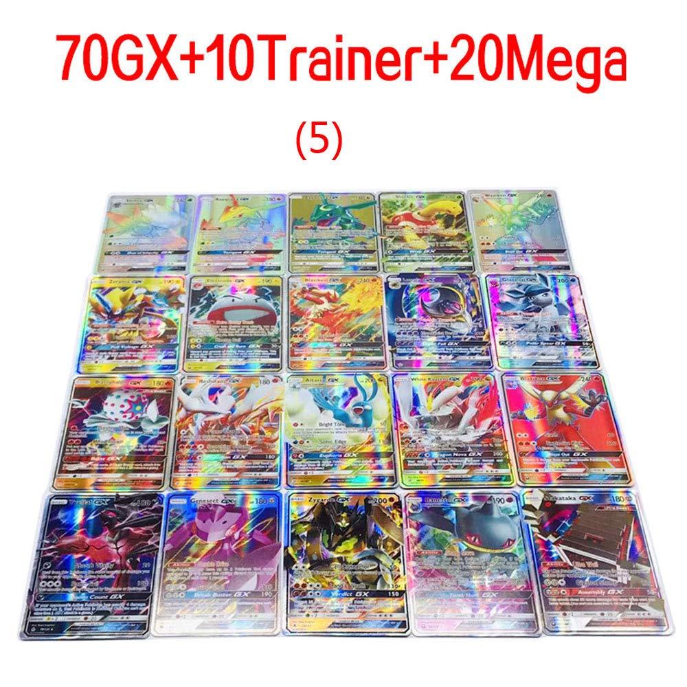2019 New 100 Pcs Pokemon GX Cards EX Mega Energy Trainer Cards 70GX+10Trainer+20Mega
