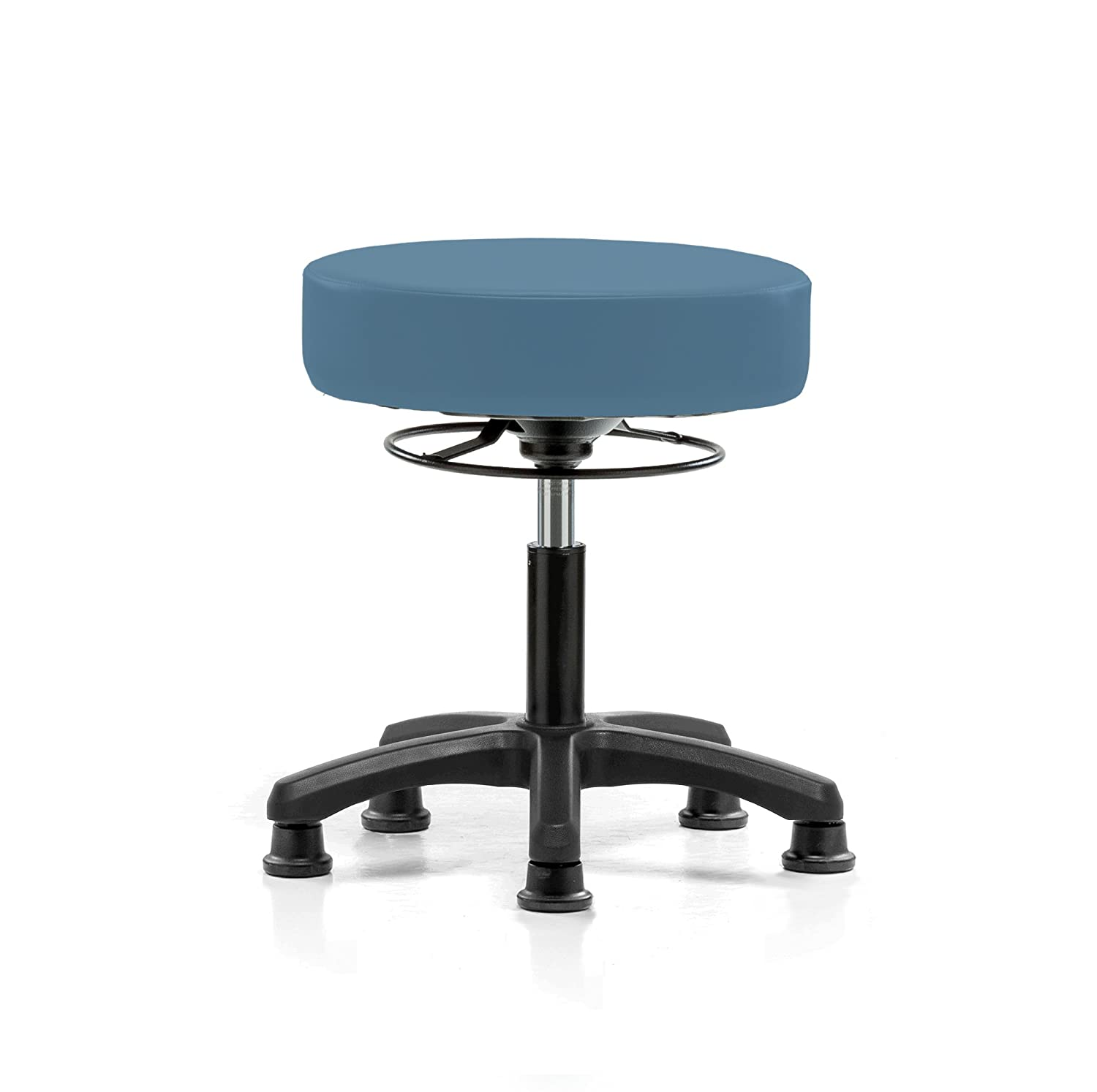 Perch Life Rolling Pneumatic Adjustable Stool For Lab Medical Office Spa Salon Kitchen Garage 18 - 23 (Glides/Burgundy Fabric)