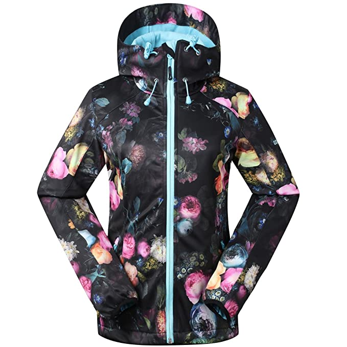 458a7719cd Image Unavailable. Image not available for. Color  GSOU SNOW Women s  Full-Zip Thermal Waterproof Breathable Fleece Jacket Petite Hooded (Black