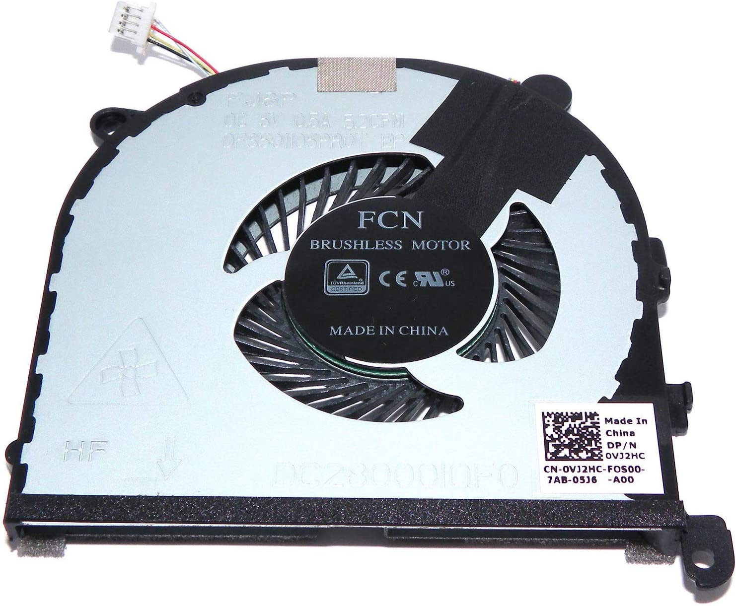 New OEM CPU Cooling Fan for DELL XPS 15 9560 P56F DC28000IQF0 VJ2HC (Left)