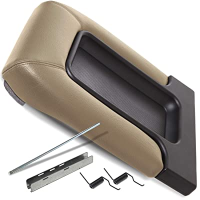 OxGord Center Console Organizer Lid - Repair Kit Best for 99-07 Silverado, Tahoe, Avalanche, Suburban, Sierra, Yukon, Escalade - Replaces GM OEM 19127366 Armrest Latch Cover Accessories - Beige: Automotive