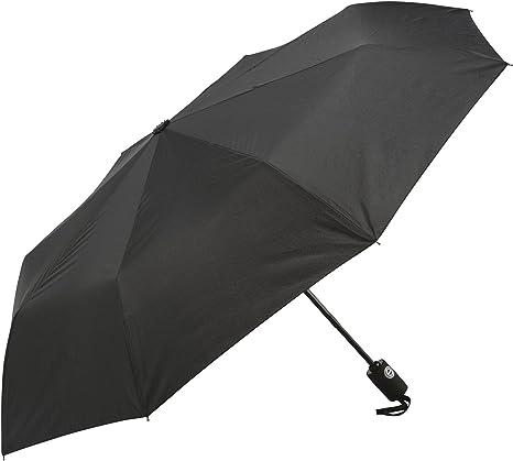 Paraguas, estructura reforzada resistente al viento, probado con vientos hasta 60 mph, duraderoParaguas negro automático de apertura automática para desplegarlo rápidamente al estar cerrado.: Amazon.es: Deportes y aire libre