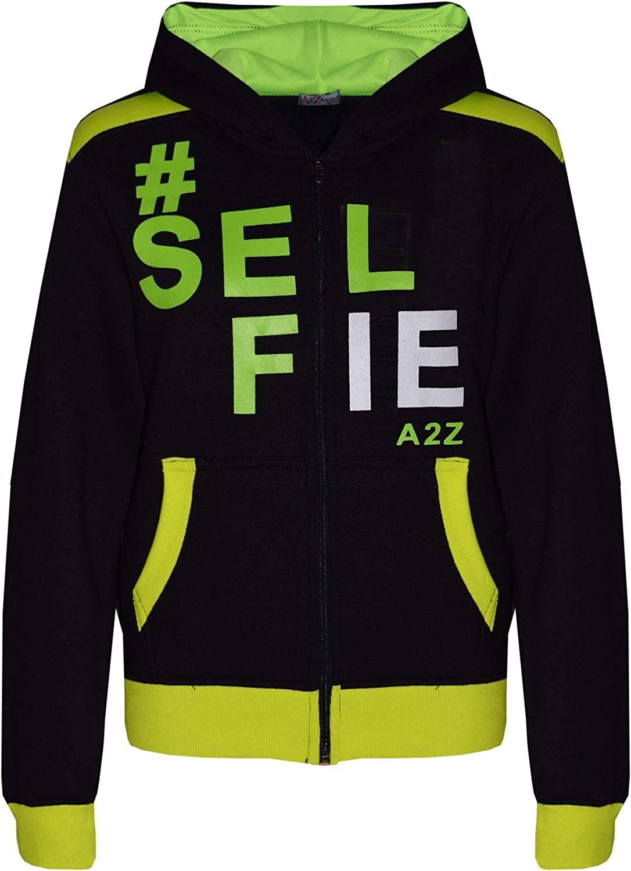 A2Z 4 Kids Girls Boys #Selfie Tracksuit Hooded Hoodie Bottom Jog Suit Joggers 5-13 Yr