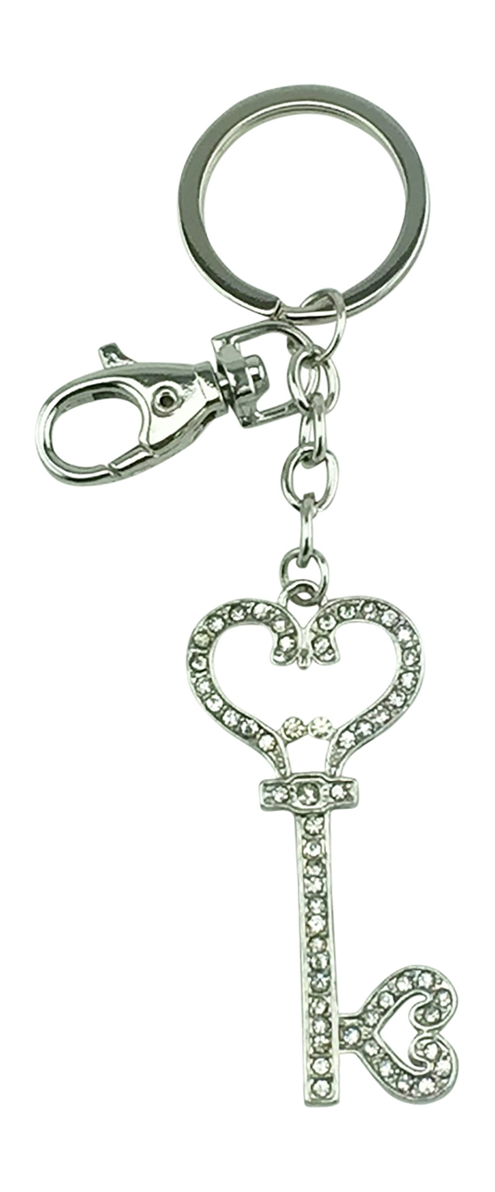 Kubla Craft Bejeweled Key To My Heart Key Chain, 5 Inches Long