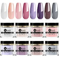 MTSSII Dip Powder Nail Kit 8 Dipping Powder Colors Set For French Nail Manicure Nail Art with Gift Box, No UV/LED Nail…